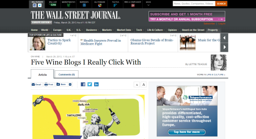Five Wine Blogs I Really Click With - On Wine by Lettie Teague - WSJ.com