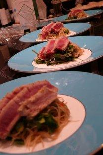 Touraine sauvignon blanc food matching: seared tuna, chili and coriander noodle salad